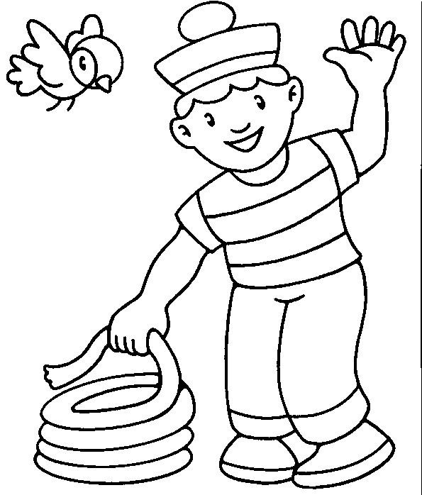 Coloriage et dessins gratuits Le petit Marin à imprimer