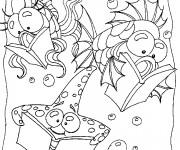 Coloriage et dessins gratuit Les poissons qui lisent à imprimer
