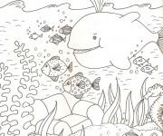 Coloriage Mer et Poissons