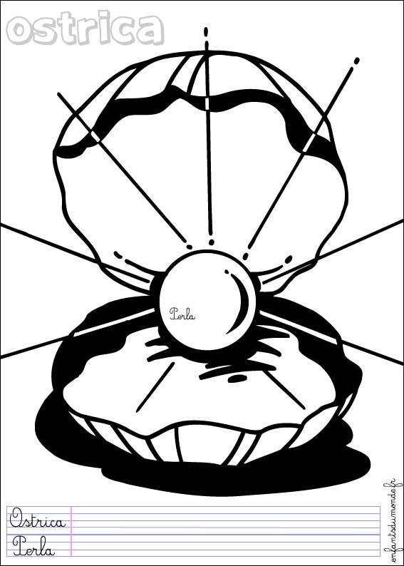 Coloriage et dessins gratuits Ostrica Fond Marin à imprimer