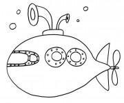 Coloriage et dessins gratuit Sous Marin en mission à imprimer