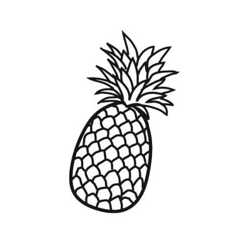 Coloriage Ananas Couleur Dessin Gratuit à Imprimer