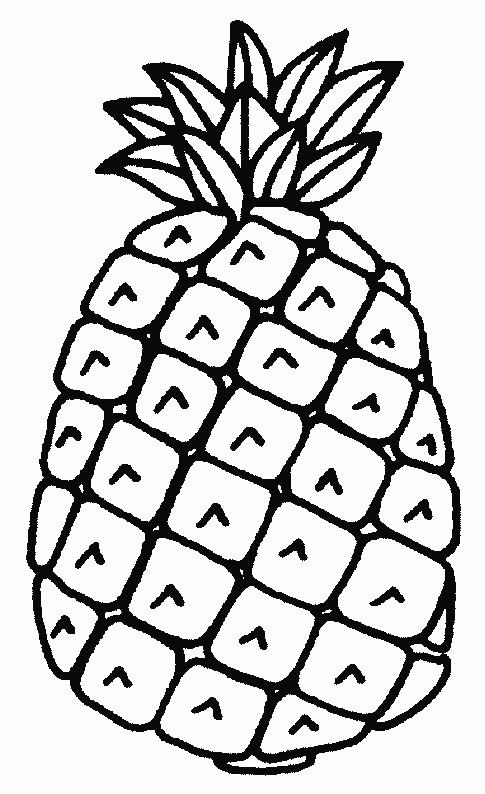 Coloriage Ananas Simple Dessin Gratuit à Imprimer