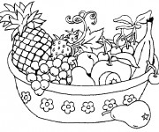 Coloriage Corbeille de Fruits