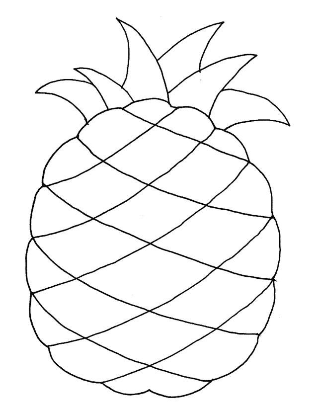 Coloriage Fruit Ananas Dessin Gratuit à Imprimer