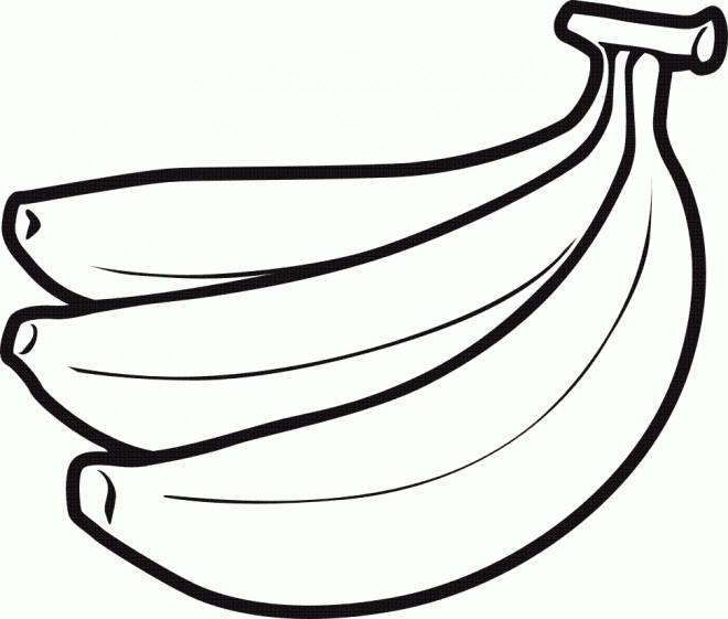 Coloriage et dessins gratuits Fruit de Bananes vecteur à imprimer