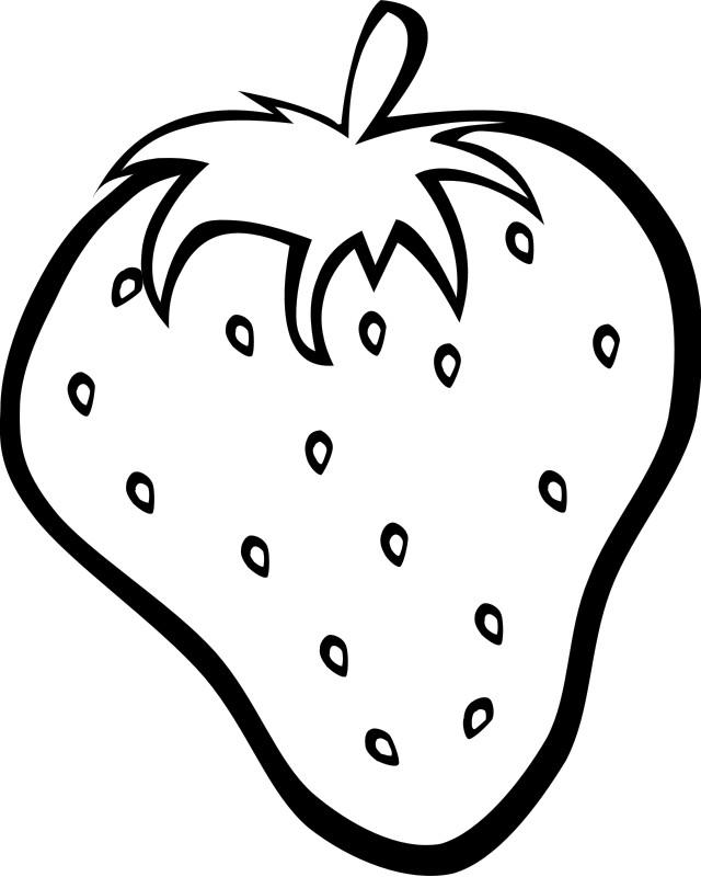 Coloriage et dessins gratuits Fruit de Fraise à imprimer