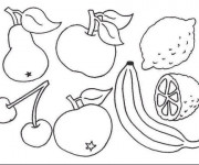 Coloriage Fruit de Printemps