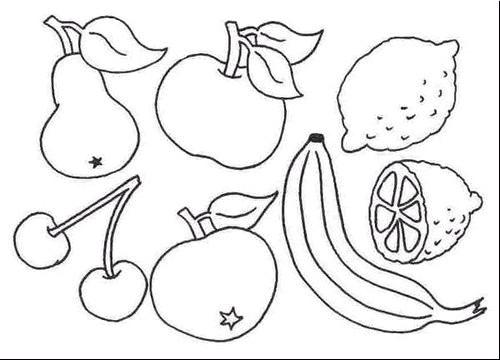 Coloriage fruit de printemps dessin gratuit imprimer - Fruits coloriage ...