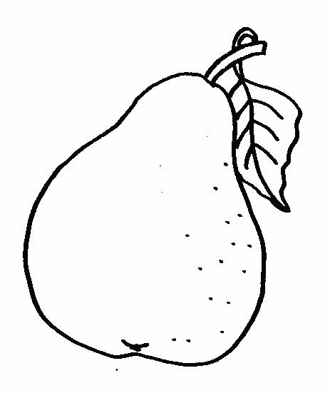Coloriage et dessins gratuits Fruit Poire à imprimer