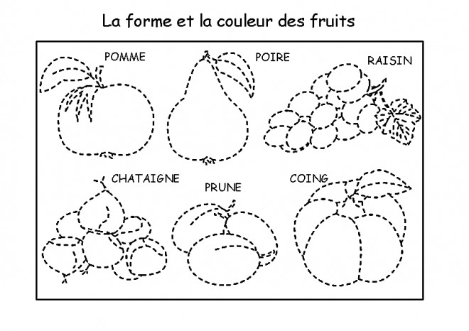 Coloriage et dessins gratuits Fruits à compléter à imprimer