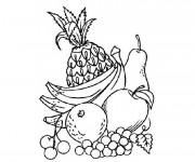 Coloriage et dessins gratuit Fruits à découper à imprimer