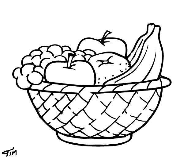 Coloriage et dessins gratuits Fruits à la cuisine à imprimer