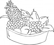 Coloriage Fruits à télécharger