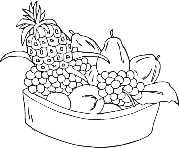 Coloriage et dessins gratuits Fruits à télécharger à imprimer