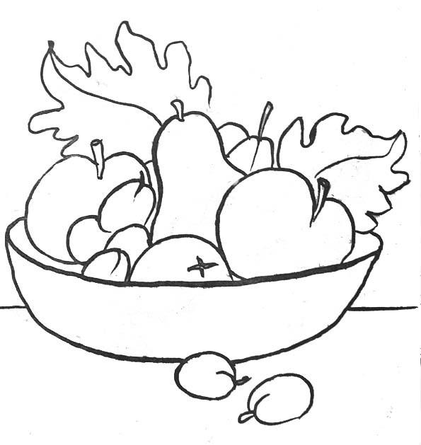 Coloriage et dessins gratuits Fruits délicieux à imprimer