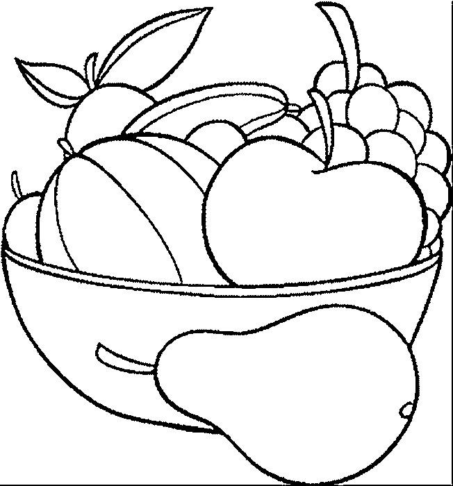 Coloriage et dessins gratuits Fruits disposés à imprimer