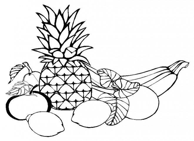 Coloriage et dessins gratuits Fruits disposition à imprimer
