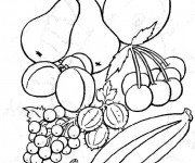 Coloriage Fruits en couleur