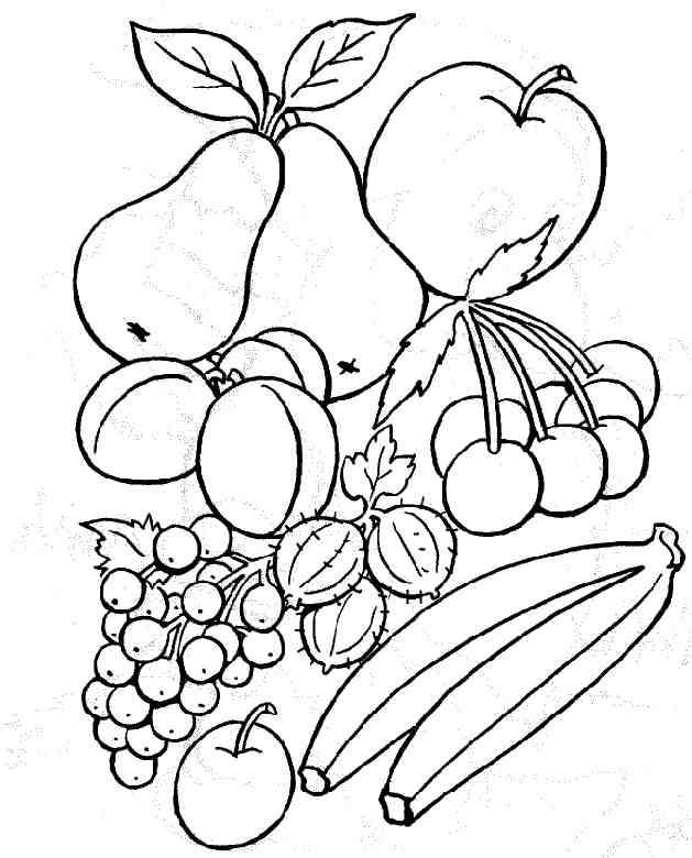 Coloriage et dessins gratuits Fruits en couleur à imprimer