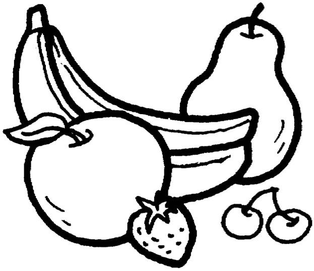 Coloriage et dessins gratuits Fruits en noir à imprimer