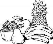 Coloriage Fruits facile