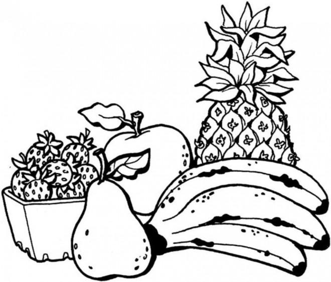 Coloriage et dessins gratuits Fruits facile à imprimer
