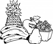 Coloriage Fruits maternelle
