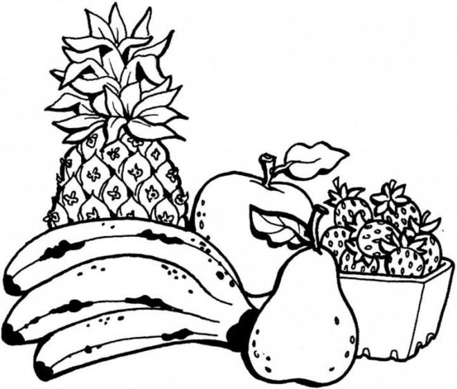 Coloriage et dessins gratuits Fruits maternelle à imprimer
