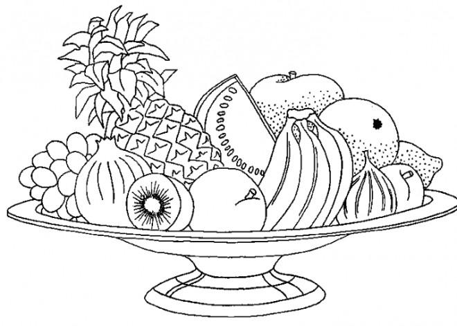 Coloriage et dessins gratuits Fruits pour dessert à imprimer