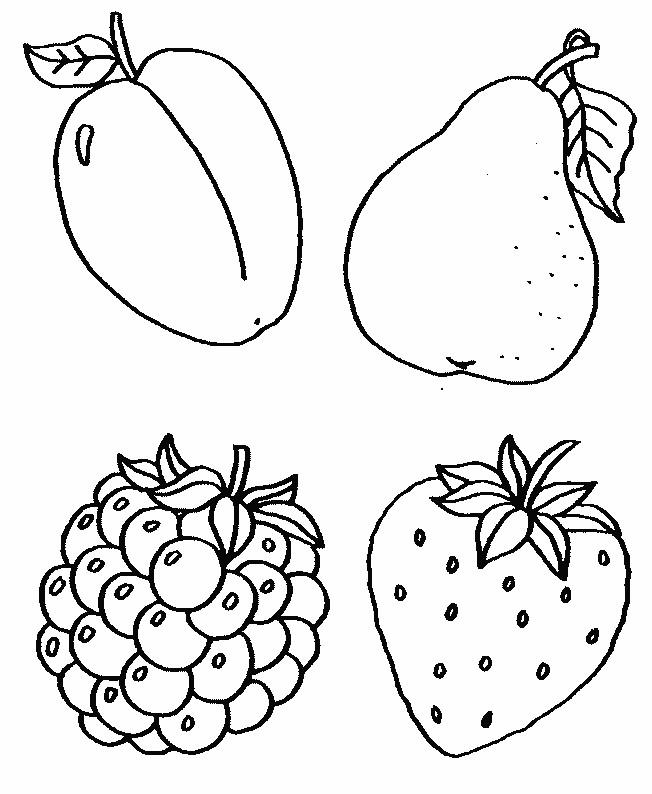 Coloriage fruits pour enfants dessin gratuit imprimer - Fruits coloriage ...