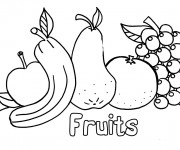 Coloriage Fruits stylisés
