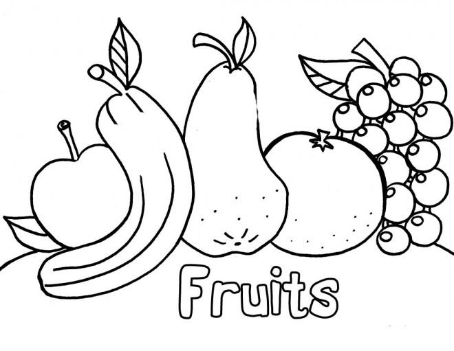 Coloriage et dessins gratuits Fruits stylisés à imprimer