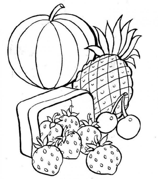 Coloriage et dessins gratuits Fruits sucrés à imprimer