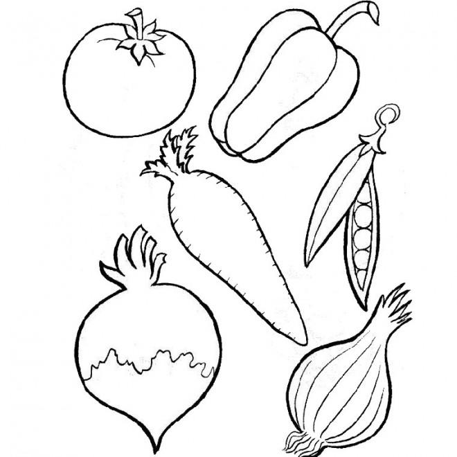 Coloriage et dessins gratuits Légumes maternelles à imprimer