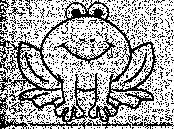 Coloriage et dessins gratuits Grenouille assise silhouette à imprimer