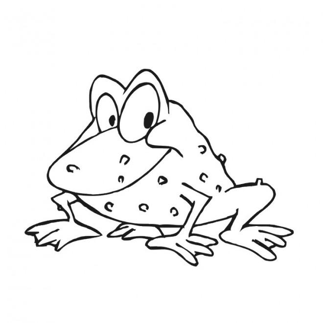 Coloriage et dessins gratuits Grenouille en bon humeur à imprimer