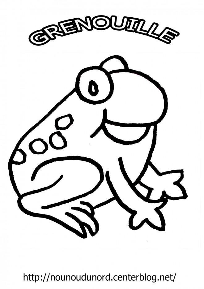 coloriage grenouille heureuse dessin gratuit imprimer. Black Bedroom Furniture Sets. Home Design Ideas