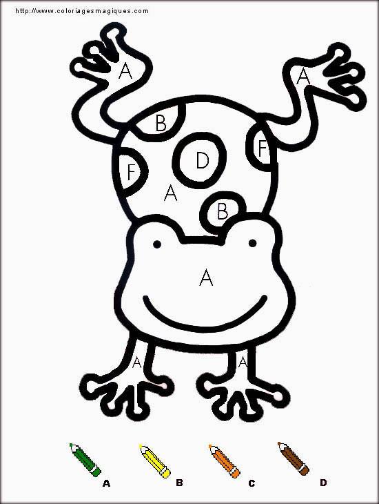 Coloriage et dessins gratuits Grenouille numérotée à imprimer