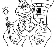 Coloriage et dessins gratuit Grenouille Reine à imprimer