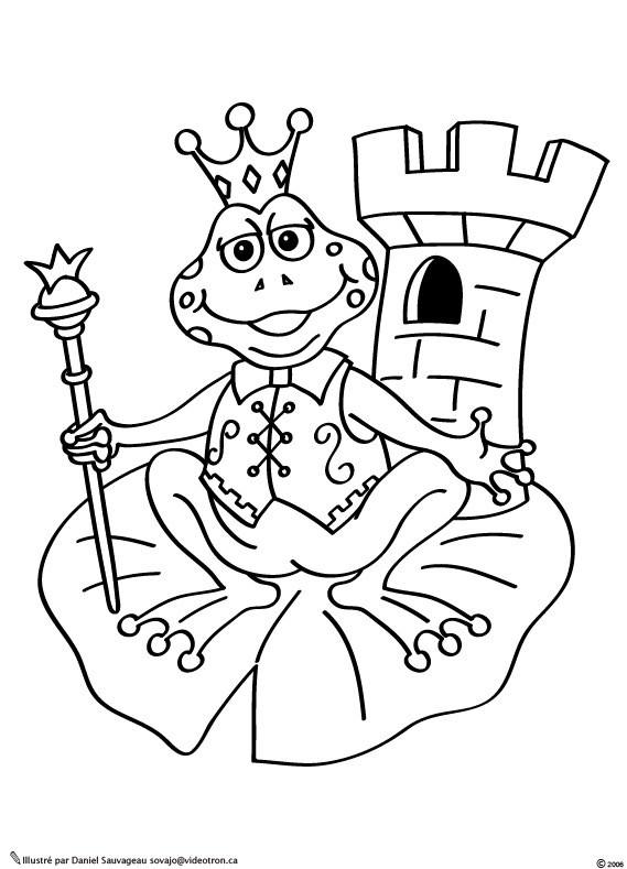 Coloriage et dessins gratuits Grenouille Reine à imprimer