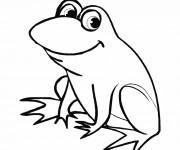 Coloriage et dessins gratuit Grenouille rigolote à imprimer