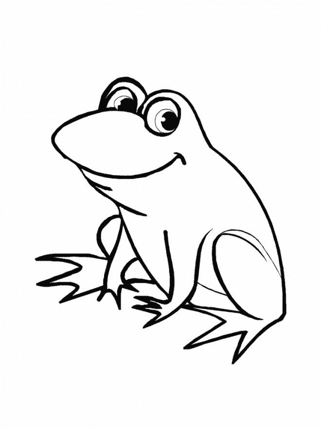 Coloriage grenouille rigolote dessin gratuit imprimer - Coloriage de grenouille ...