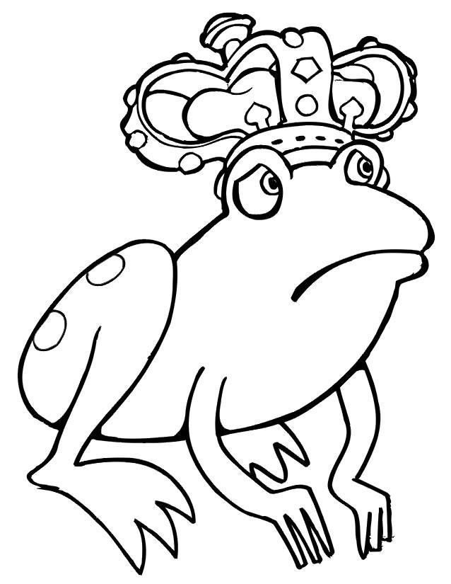 Coloriage et dessins gratuits Grenouille Roi triste à imprimer