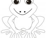 Coloriage Grenouille souriante