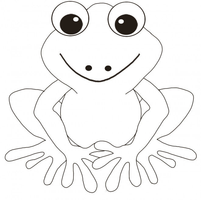 Coloriage et dessins gratuits Grenouille souriante à imprimer