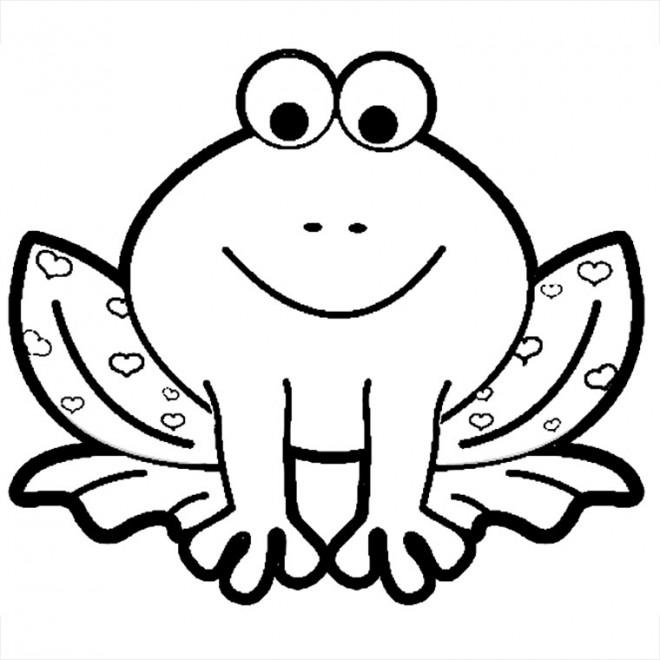 Coloriage grenouille tach e en coeurs dessin gratuit imprimer - Coloriage de grenouille ...