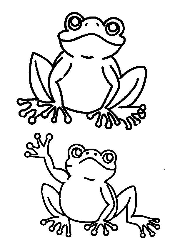 Coloriage et dessins gratuits Grenouille te salue à imprimer