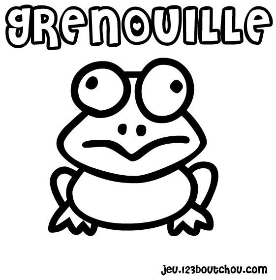 Coloriage et dessins gratuits Petite Grenouille dessin animé à imprimer