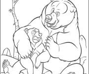 Coloriage Grizzly et son bébé